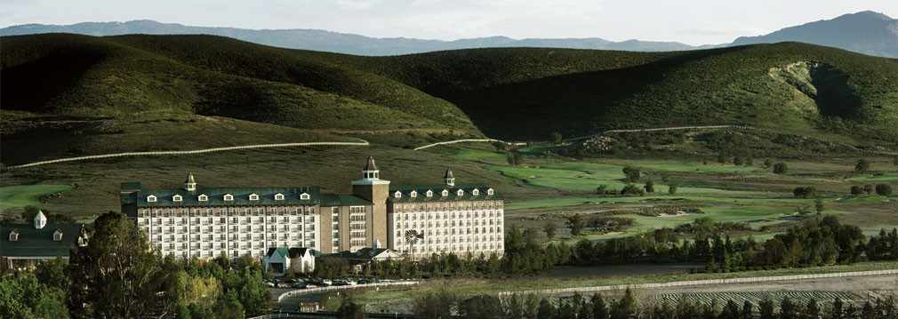 Exterior of Barona Resort & Casino with mountain landscaping
